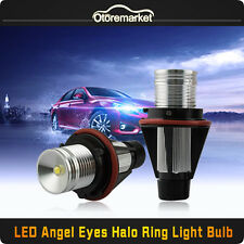10W Total CREE LED White Angel Eye Light Ring Marker for BMW E39 E53 E60 E61 X3