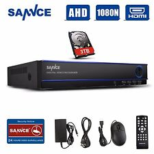 SANNCE 3TB Hard Drive 16 Channel 1080N Video H.264 CCTV DVR for Security System