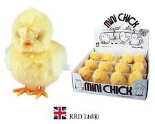 Kids Wind Up Clockwork HOPPING CHICK Toy Birthday Easter Party Bag Gift Toys UK