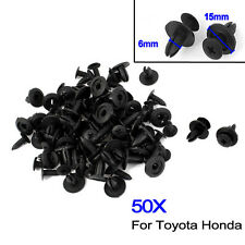 50pcs Auto Car Door Fender 6mm Hole Trim Panel Screw Rivets Fastener Trims Clips