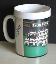 1988 Minnesota MN Twins Team MUG Thermo Serv Insulated FREE SH