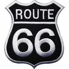 ROUTE 66 Cafe Racer Biker Motorbike Sew Iron On Embroidered Shirt Badge Patch