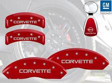 1988-1996 Chevrolet Corvette Red Brake Caliper Cover Front Rear Keychain INSTOCK