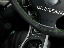 FOR MERCEDES SLK R170 96-04 LEATHER STEERING WHEEL COVER GREEN DOUBLE STITCHING