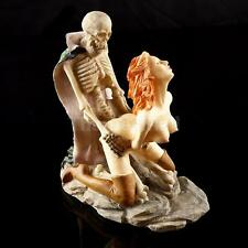 Human Skull Sex Resin Model Skeleton Halloween Bar Figurine Home Decor #1