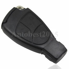 REMOTE SMART INSERT KEY FOB CASE 3 BUTTON SHELL For Mercedes Benz M C B E CL SL