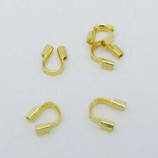100 pcs Gold Wire Guardian Protectors Crimp loops beads findings 4x5mm P228-2