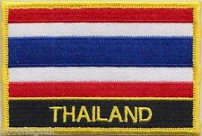 Thailand Flag Embroidered Patch Badge - Sew or Iron on