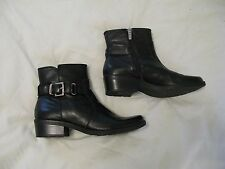 Anne Klein 'Liana' Ankle Boot Sz 7 M Black Leather - Gorgeous Style! Rare & HTF