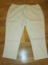 Cotton traders blanc roll hem jeans stretch taille 26 jambe 27 - 30 neuf & étiquettes
