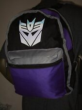 Transformers Autobots Decepticons Logo Cartoon Reversible Backpack Bag Hasbro