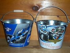MILLER LITE #2 & INDIANAPOLIS SPEEDWAY 5QT METAL BEER ICE BUCKETS COOLER NEW