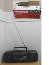 Panasonic RX FS450 Stereo Recorder Boombox Orig Box Radio Works Cassette Doesn't