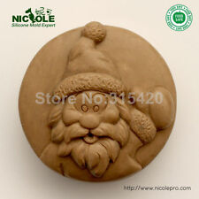 Easy Unmold Handmade Christmast Molds Santa Claus Silicone Soap Molds,Moulds