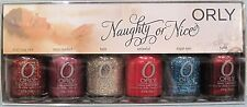 ORLY NAUGHTY NICE 6 Pix GLITTER Nail Polish Set~Devil Miss Halo Angel Torrid NIB