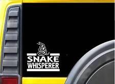 Snake Whisperer Sticker J873 6 inch reptile decal