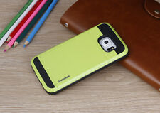 Hybrid Back Bumper Cover Case Card Pocket For Samsung Galaxy S6 S7 Edge Note 4 5