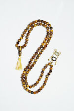 PROSPERITY KUNDALINI MALA BEADS TIGER EYE SNAKE PENDANT POWERFUL YOGA JAPAMALA