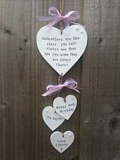 Handmade Personalised Plaque Sign Godmother Godparent  Birthday Present Gift