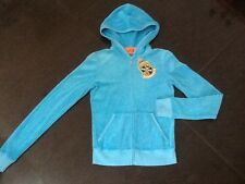 "NWT Juicy Couture New Gen. Ladies Size Small Blue Cotton Hoody With ""J"" Pull"