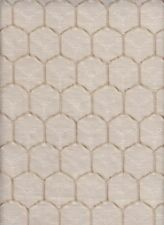 22.5 yds Geometric Upholstery Fabric Honeycomb Champagne and Gold CF3