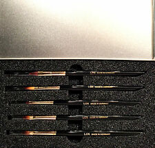 LCN PROFESSIONAL  NAIL BRUSH SET (5 BRUSHES) MADE IN GERMANY BRAND NEW IN CASE