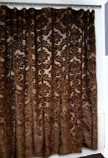 Gold Rush Shower Curtain - Western - Brown Damask - Free Shipping