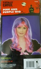 NIP Totally Ghoul Pink & Purple wig one size Halloween