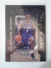 1997-98 Skybox Premium ANFERNEE HARDAWAY Rock N Fire Insert Orlando Magic