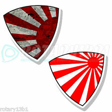 2PCS - ROTARY FLAG STICKERS ROTOR RE WANKEL NO PISTON RX7 RX2 RX8 RX7 REPU RX-7