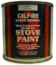 CALFIRE BRUSH ON STOVE PAINT HIGH TEMP WOODBURNER - BRUSH ON MATT FLAT BLACK