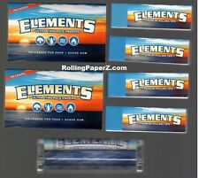 200 ELEMENTS SINGLE WIDE Rice ROLLING PAPERS + 200 TIPS + 70mm Roller Machine