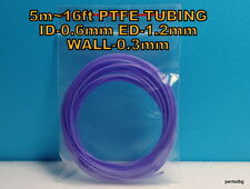 5m 16ft PTFE TEFLON TUBING PIPE ID-0.6mm  ED-1,2mm WALL-0.3mm  23AWG WIRE VIOLET