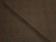 100% Pure Wool Tweed Multi Check Brown Jacket Blazer Craft Upholstery Fabric