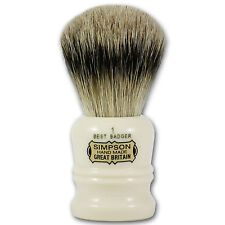 Simpsons Duke 1 Best Badger Hair Shaving Brush with Cream Handle