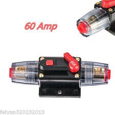 60 AMP 12V DC Circuit Breaker Replace Fuse Holder 60A 12V Car Audio Marine Boat