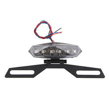 Motorcycle ATV License Plate Holder LED Tail Rear Brake Bracket Light 12V