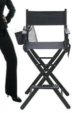 Black Wooden Folding Makeup Artist Movie Film Studio Director Chair