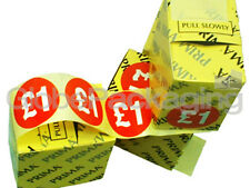 """1000 x """" £1 """"' Price Labels Self Adhesive Stickers DEAL"""