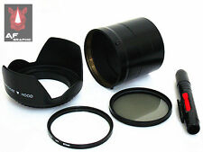 F131u Lens Hood + Lens Pen + Adapter Ring + UV / CPL Filter for Sony DSC HX100V