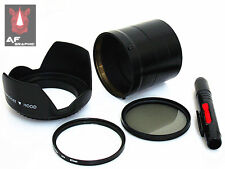 F131u Lens Hood + Lens Pen + Adapter Ring + UV / CPL Filter for Sony DSC HX200V