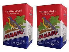 2 x 1 kg YERBA MATE PAJARITO ELABORADA TEA