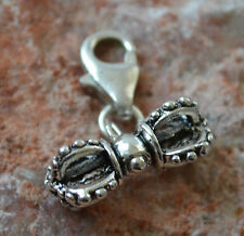 Meditation Vajra Clip on Charm Pendant Buddhist Dorje Yoga Tibet Hand Made
