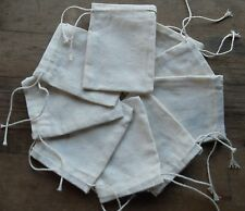 10  HIGH GRADE MUSLIN DRAWSTRING BAGS 10 X 8CM  FROM SOUTH CHESHIRE SMALLHOLDING