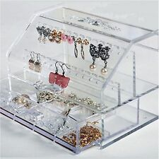 Jewelry Organizers earring Boxes holder Acrylic drawer Accessories ring storage