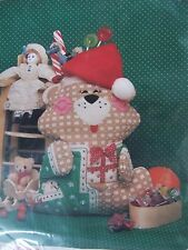 Day Dreams Teddy Bear Christmas Stocking Sewing fabric Panel KIt  825 New