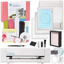 Silhouette Curio Machine w/ Vinyl Kit & Shadow Box Bundle Cut Score Emboss Media