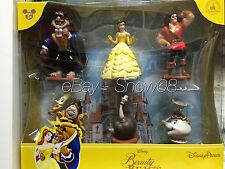 Disney Park BEAUTY AND THE BEAST Figure Play Cake Topper Set Limited New