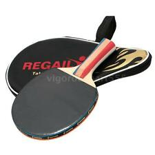 Table Tennis Racket High Quality Ping Pong Paddle Bat & Bag Shake-hand HOT C2T6