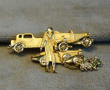 1920s Flapper Socialite walking Scottie Dog by Classic Car Collection~Rolls